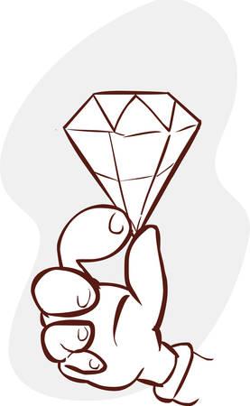 held: vector illustration of a held diamond