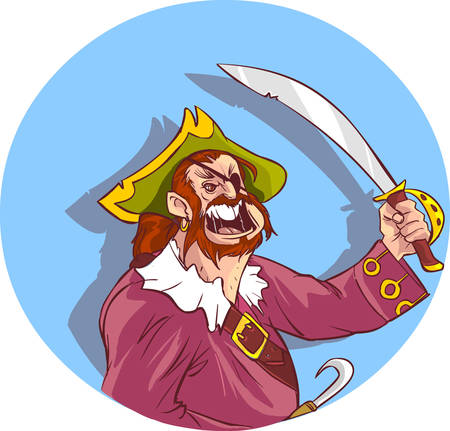 sea robber: vector illustration of a pirates Illustration