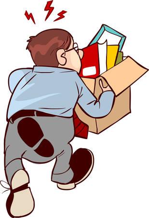 illustrazione vettoriale di un licenziamento Vettoriali