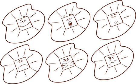 vector illustration of a sun countenance