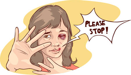 vector illustration of a Stop violence against women Vettoriali