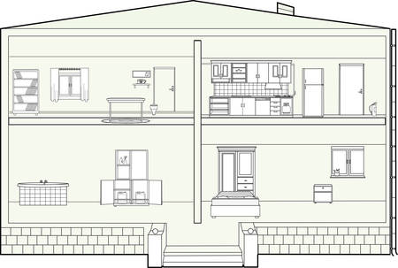 house plan: vector illustration of a house plan