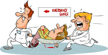 emergency services and caregivers emergency services and caregivers Illustration