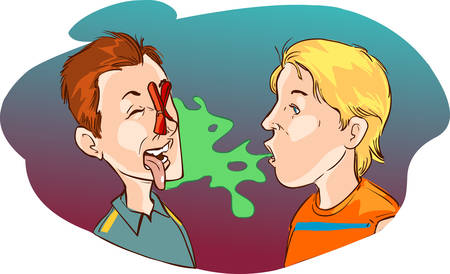 forbidden to pass: Vector illustration of a  medical halitosis Illustration