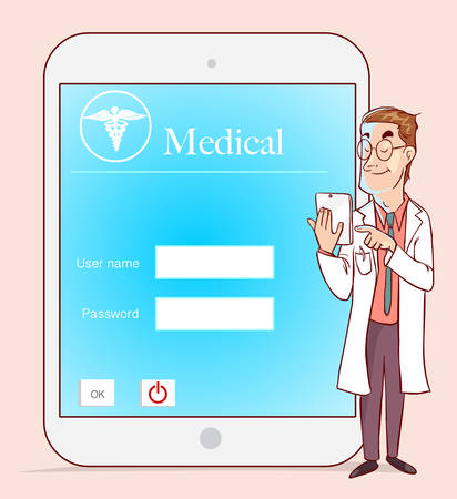essays: Medicine doctor working with modern tablet computer and virtual interface as medical concept