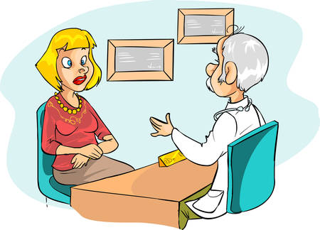 a medical examination: blue backround Vector illustration of a Medical Examination