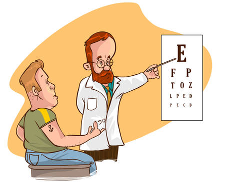 ophthalmologist: white backround Vector illustration of a ophthalmologist