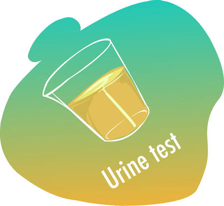 wee: green  background vector illustration of a urine test