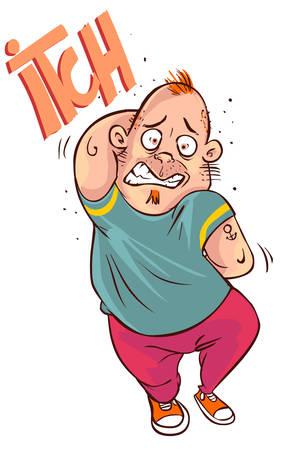 illustrazione vettoriale di un uomo del fumetto graffiare tutto Vettoriali
