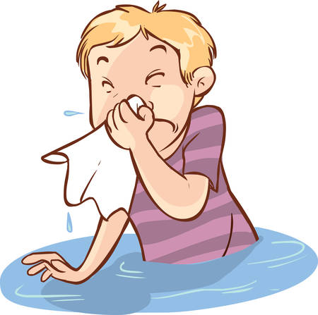 runny: vector illustration of a runny nose people