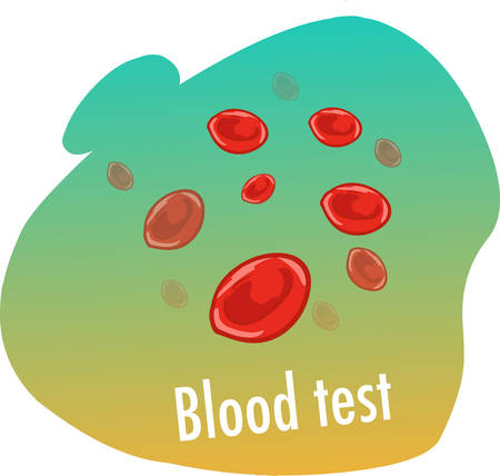 white background vector illustration of a  blood test Stock Illustratie