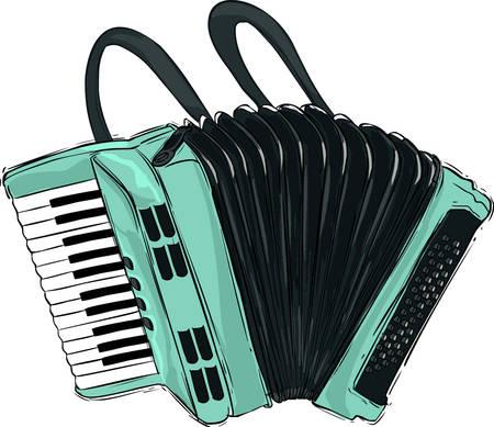 Vector illustration of a accordion illustration Stock Illustratie