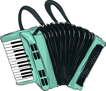 Vector illustration of a accordion illustration Illustration