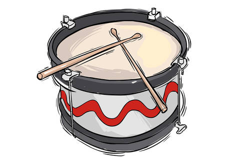 snare drum: Vector illustration of a musical instrument snare drum Illustration