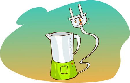 food processor: Vector illustration of a  cartoon food processor Illustration
