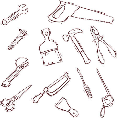 set series: Vector illustration of a Tool icon series set