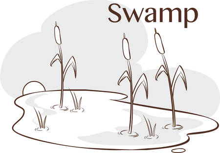 mire: vector Illustration of a  Bog Illustration
