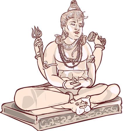 vector  Illustration of a Maha Shivaratri