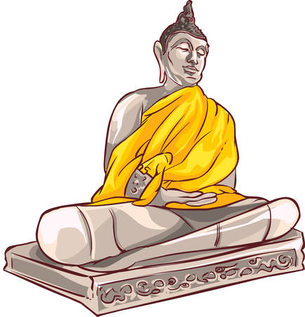 buddha statue: Old Buddha in Ayutthaya Province, Thailand