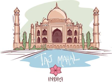 mahal: vector illustration of a Taj Mahal ?nd?a