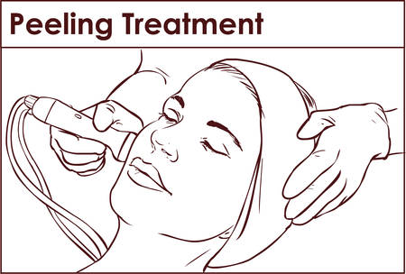face treatment: Face Skin Care. Facial Hydro Microdermabrasion Peeling Treatment