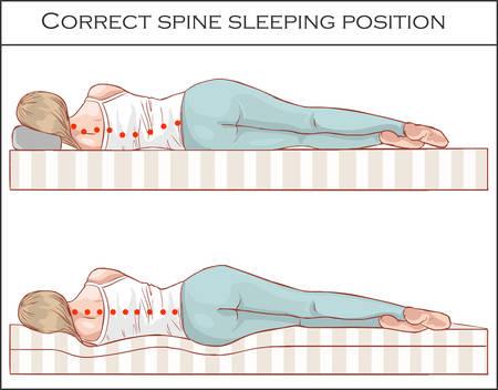 Position de sommeil de la colonne vertébrale correcte