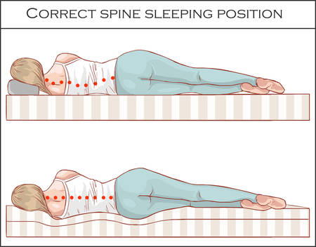Correct spine sleeping position
