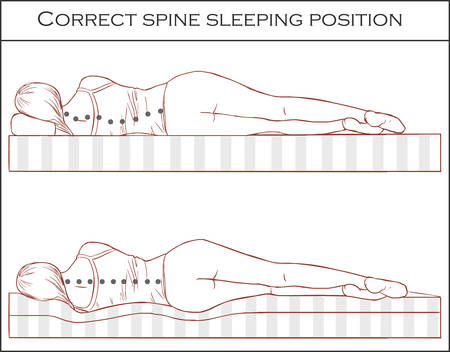 Correct spine sleeping position