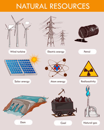 Vector illustration of a natural resources