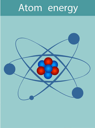 An atom consists of a nucleus (neutrons and protons) and electrons, which move around the nucleus. Illustration