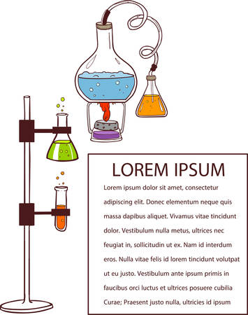 vector illustration of a chemistry laboratory Illustration