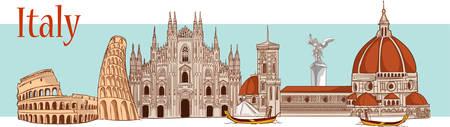 Tijd om in Italië vectorillustratie te reizen. Stockfoto - 87526130