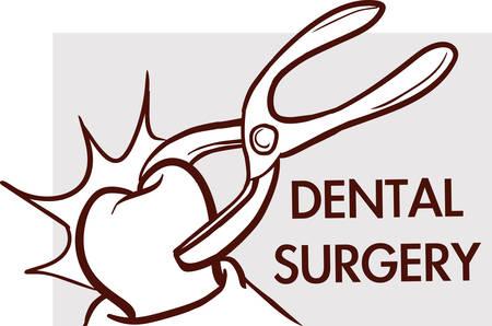 Dental surgery. Dental clinic logotype concept icon. Ilustração