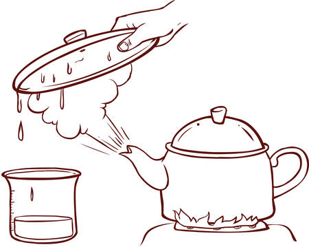 Teapot Clipart Evaporation Water Vettoriali