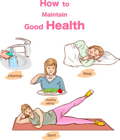 healthy lifestyle concept vector illustration