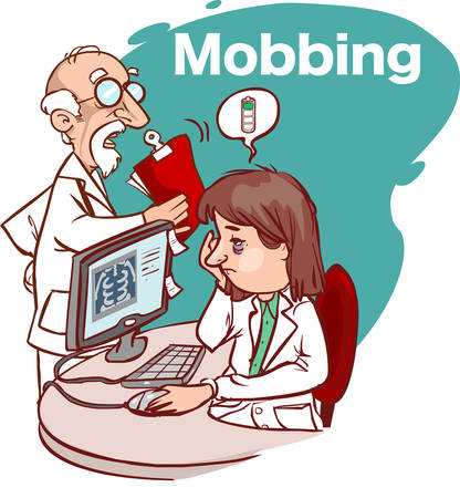 mobbing in the health sector Standard-Bild - 126856981