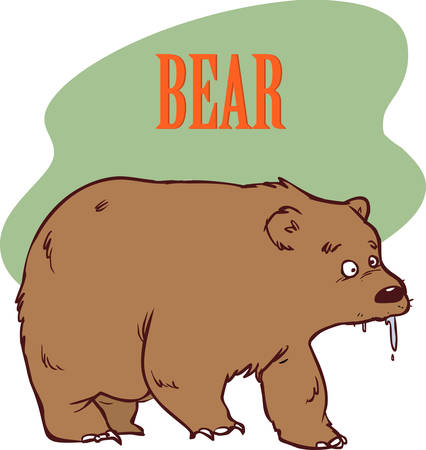 Funny cartoon bear stock illustration Ilustração