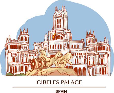 Cibeles Palace (Palacio de Cibeles), Madrid, Spain.