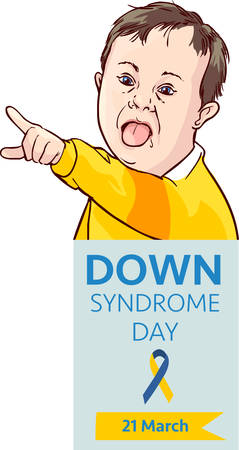 Down syndrome day card vector illustration