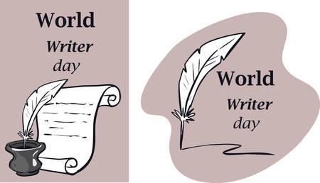 Journée mondiale de l'eau. Carte postale, bannière, flyer. Carte de voeux. Dessin de griffonnage