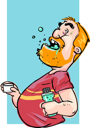 Vector illustration of Mouthwash stock