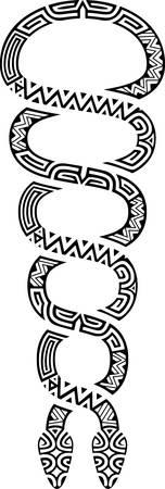 定型化された二重らせんヘビ