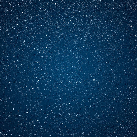 Vector abstract background with elements of stars on a dark night sky. Illustration