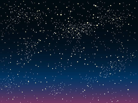 skies: Vector Astronomical background. The stars in the night sky. Illustration