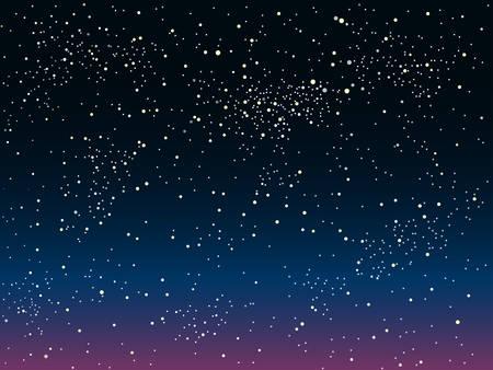 noche y luna: Vector de fondo astronómico. Las estrellas en el cielo nocturno. Vectores