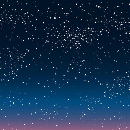 Vector de fondo astronómico. Las estrellas en el cielo nocturno.