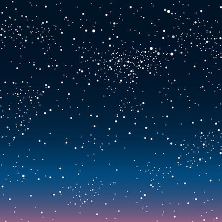 dark sky: Vector Astronomical background. The stars in the night sky. Illustration