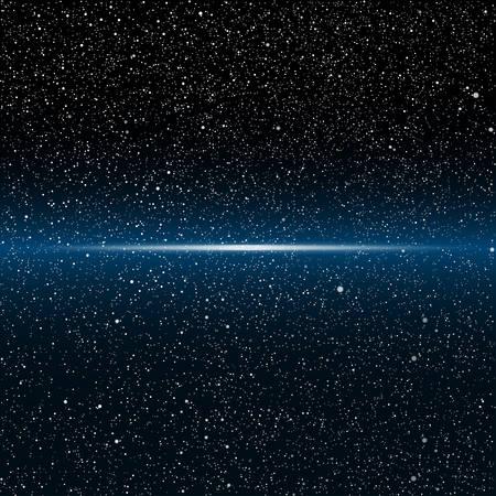 Vector sfondo astronomico. Le stelle nel cielo notturno. Vettoriali
