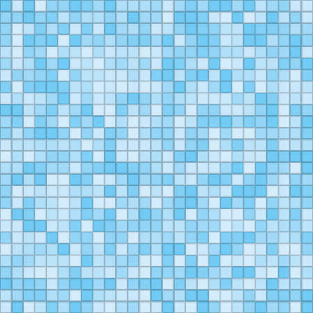 Vector texture in the form of multi-colored square tiles.