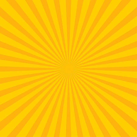 Yellow abstract sun rays on a yellow background.